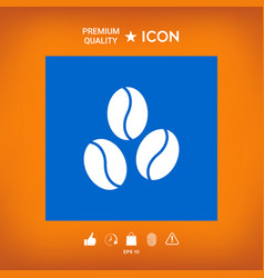 Coffee beans line icon vector