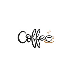 creative coffee typography logo vector image