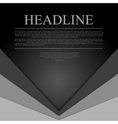 Dark grey corporate tech background vector