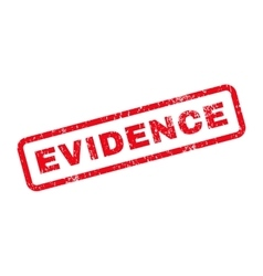 Evidence Text Rubber Stamp vector image