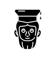 Famous scientist black icon concept vector