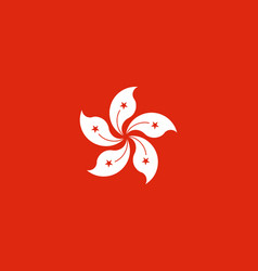 Flag of hong kong national symbol of the vector