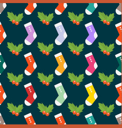 Flat design colorful socks selection of various vector