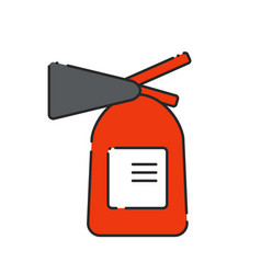 flat extinguisher icon vector image