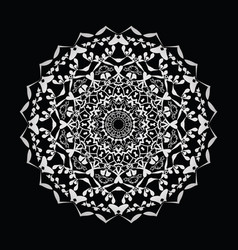 Floral round decorative symbol vintage decorative vector
