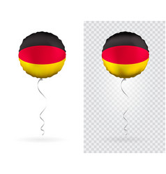foil round shaped balloons in as germany national vector image