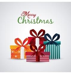 Gift con Merry Christmas design graphic vector