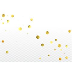 Gold confetti celebration vector