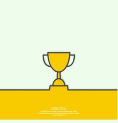 Gold cup of the winner vector