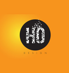 Ho h o logo made of small letters with black vector