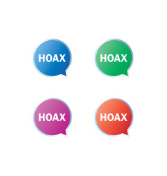 hoax warning label set vector image