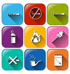 Icons with unhealthy vices vector