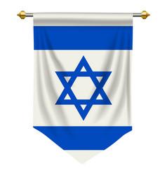 Israel pennant vector