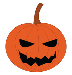 Jack o lantern pumpkin decoration or color vector
