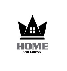 king queen crown house real estate building vector image