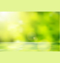 Lens flare bokeh nature background vector