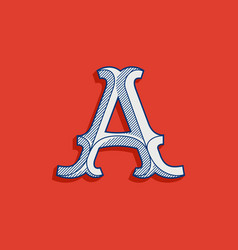 Letter a logo in classic sport team style vector