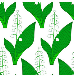 Lily of the valley pattern vector