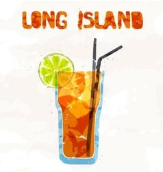 long island ice tea cocktail vector image