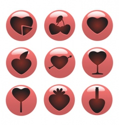 love concept icon vector image