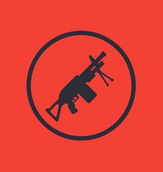 Machine gun icon in circle vector