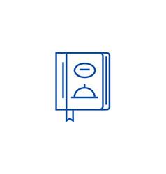 menulunch line icon concept menulunch flat vector image