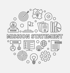 mission statement round outline vector image