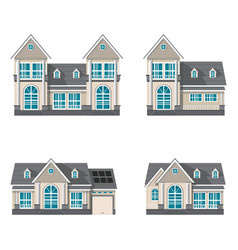 modern family house isolated on white background vector image vector image
