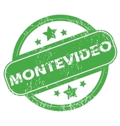 Montevideo green stamp vector