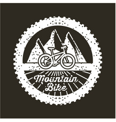Mountain bike banner vintage retro poster black vector