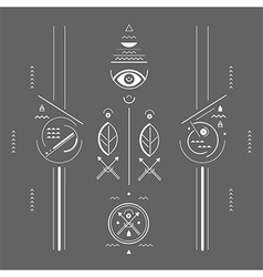 Mystical signs vector image