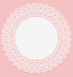 openwork lace round frame suitable for laser vector image