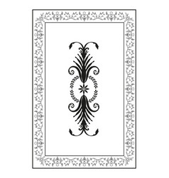 Oriental ornaments old frame isolated on white vector