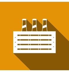 Pack of Beer icon with long shadow vector image