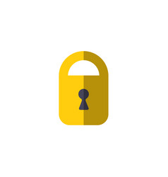 padlock icon protection symbol door lock vector image