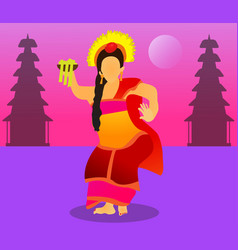 Pendet dance vector