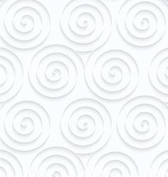 Quilling paper three spirals vector