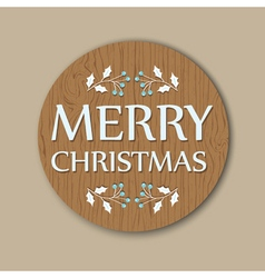 round christmas card vector image