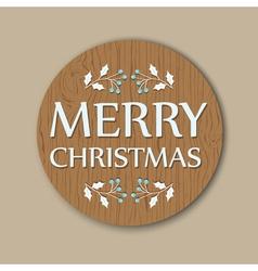 Round christmas card vector
