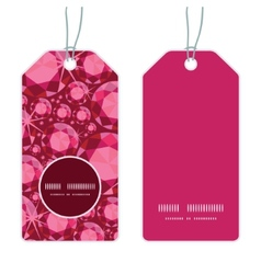Ruby vertical round frame pattern tags set vector