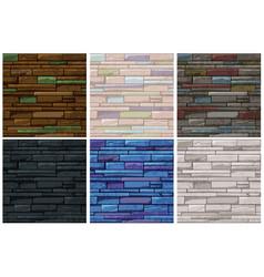 seamless pattern stone brick old wall vector image