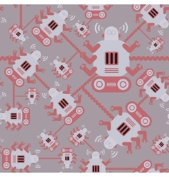 seamless Robot patterncartoon vector image