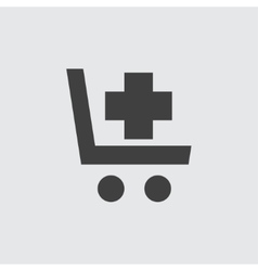 Shopping cart with cross icon vector image