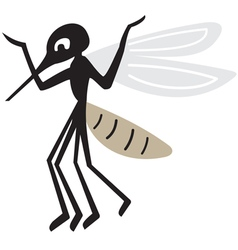 Silhouette of arrogant mosquito vector