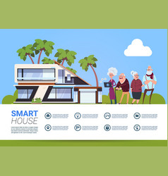 Smart house technology of home automation concept vector