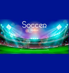 Soccer stadium design vector