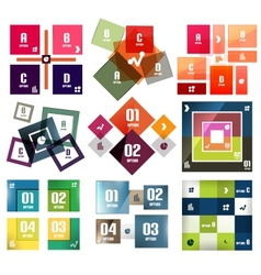 square banners templates set vector image