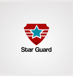 star guard logo icon element and template vector image