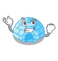 Successful cartoon dome igloo ice house snow vector
