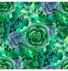 Succulent pattern vector
